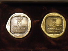 GREECE 2 MEDAL HELLENIC OLYMPIC COMMITTEE IN HONOUR OF THE BARCELONA 1992 !!!!!