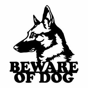 Beware of Dog Metal Sign
