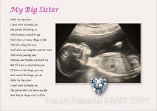 BIG SISTER TO BE - Laminated Gift (YOUR SCAN PHOTO PRINTED)