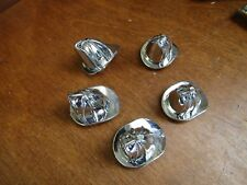 NEW 5 PEDAL CAR FIRE HAT BELL TOPPERS OR HOOD ORNAMENTS