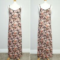 NEW LOOK Ditsy Floral Strappy Slip Maxi Dress - Y2K Style - UK Size 12