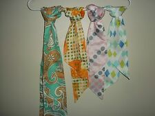 Four Vtg. Scarves/Ties/Headbands #KS13