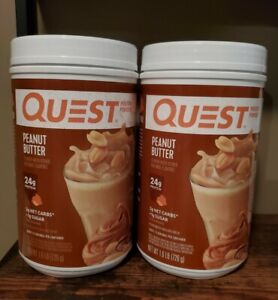 2 Canisters Quest Nutrition Peanut Butter Protein Powder Peanutbutter *EXP 3/21
