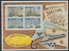 Montserrat 1986 ** Bl.38 Schiffe Ships Pistole Waffe Gun [sq6797]