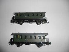 Piko DR Short passenger cars. HO Scale. Good cond. 2 rail DC or AC. No Box