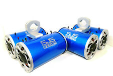 2400 Watt Boss Pearl Blue Wakeboard Tower Speakers SJS Dezign Quattro-8 Speakers