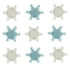 Mini Snowflakes Sugarcraft Cake/Cup cake Toppers x 9