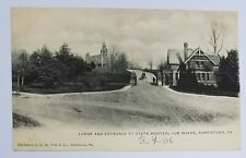 1906 Norristown PA State Hospital for Insane Entrance-Postcard -Vtg Pennsylvania
