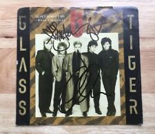 """GLASS TIGER SIGNED DON'T FORGET ME - WHEN I'M GONE EXTENDED - 45 7"""" RECORD! RARE"""