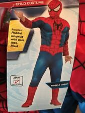 Marvel Ultimate Spider-Man Costume Child's Large 12/14 Ages 8-10 NWT Muscles