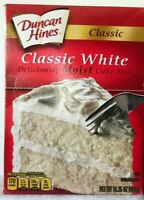 Duncan Hines White Cake Mix Lot of 2 -15.25 oz Best By 5/27/20 .FREE SHIP