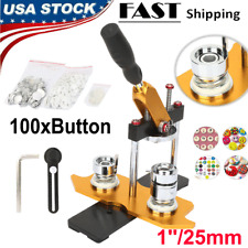 25mm Badge Button Maker Machine + 100 Buttons Circle Badge Punch Press