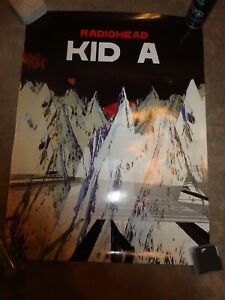 Radiohead Kid A Canadian 2 Sided Glossy Promo Poster REALLY NICE!!