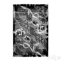 Tapis Moderne Couchage Court Floral Marron Noir Salon Tapis chevet SARANI