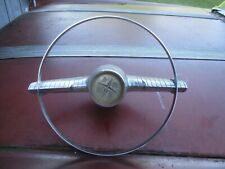 1955-1956 Desoto Steering Whee Horn Ring And Cap Retainer In Very Good Condition