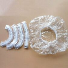 100PCS Disposable Shower Cap Caps Bathing Waterproof Clear Hair Care Protector