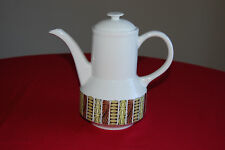Vintage Broadhurst Ironstone Kathie Winkle design Mardi Gras Coffee Pot. 60s-70s