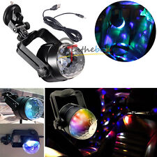 1PC Auto Car Disco DJ Stage Lighting LED RGB Crystal Ball Lamp Bulb Light Party