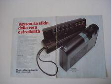 advertising Pubblicità 1977 VOXSON MOSTRO/BOCCARDINO FM