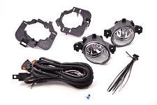 Fog Lights For 07-09 Nissan Altima Lamps Sedan Clear Lens + Wiring Kit PAIR Set