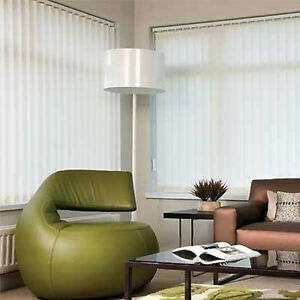 89mm Vertical Blind Slats Curzon Fabric In White/Cream
