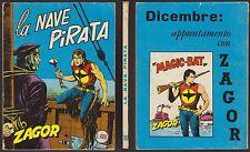 ZAGOR ZENITH 116 LA NAVE PIRATA (65) NOVEMBRE 11/1970