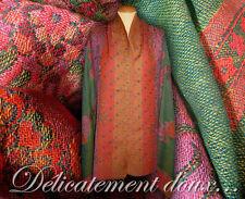 Très joli Châle 100% laine tissée Multicolore - CH73