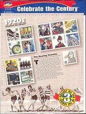 USA 1998 CENTURY/1920 S/CARS/TRAINS/Music/Horses/Commerce/Building 15 V SHT b9648b