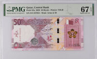 Qatar 50 Riyals ND 2020 P 35 Superb Gem UNC PMG 67 EPQ