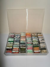 DMC Threads Job Lot in Storage Box - Various Colours x 102 carded