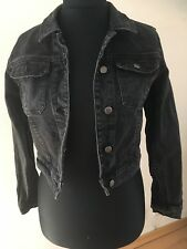 ASOS Black Denim Jacket Size 12