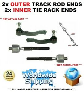 TRACK ROD TIE ROD RACK ENDS 2x OUTER 2x INNER for VOLVO V60 D5 AWD 2010-2011