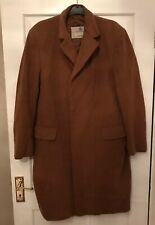 aquascutum Mens Brown Pure Wool Coat Long Length