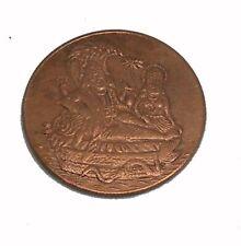EAST INDIA COMPANY.UK 1818 ONE ANNA COPPER VISHNUJI  LAXMIJI ANTIQUE OLD COIN