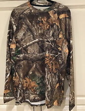UNDER ARMOUR  REALTREE Forest Camo Mens Cold Gear fitted long sleeve NWT  $65