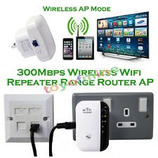 WiFi Repeater Wireless 300mbps N 802.11 AP Range Router Booster Extender UK Plug