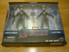"Marvel Legends Avengers Endgame Black Widow and Hawkeye 6"" figures, brand new"