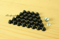 Purse feet studs leather rivet bag clothing shoes  100 sets 10 mm black M64A