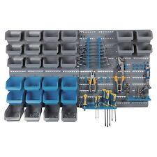 44 Pc Wall Mounted Panel Tools Screws Bits Storage DIY Organiser Rack Boxes Bins