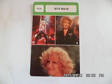 CARTE FICHE CINEMA BETTE MIDLER