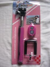 JOB LOT OF 10 MONOPODS SELFIE STICKS PINK NEW IN PACKET