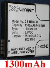 Batterie 1300mAh type 35H00143-01M BD29100 Pour HTC HD3