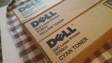 Dell 5100cn Color Toner Pack, Y,M,C new set 3 pcs.