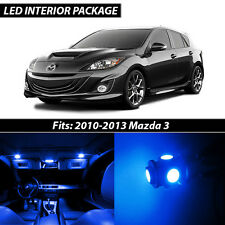 2010-2013 Mazda 3 Blue Interior LED Lights Package Kit MazdaSpeed 3