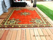 1973 Moroccan Hand-Knotted Rug by Rabat Village Women Never Used 9 x 12 (Read)