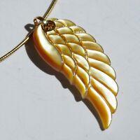 Anhänger Flügel Perlmut 585er Gelbgold gold Engelschwingen