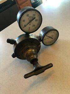 VIntage Victor Regulator Gauges Compressed Gas
