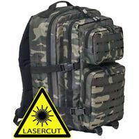 Brandit 8024 40l US Cooper LASERCUT MOLLE Assault Army Wandern Rucksack Darkcamo