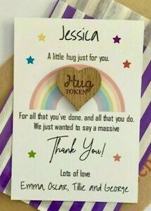 Personalised Pocket Hug Token Key Worker Appreciation Gift Card Hug *1st Class*