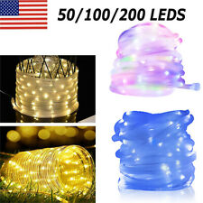 200LED Solar Powered Tube Rope Fairy String Lights Waterproof Outdoor Garden US